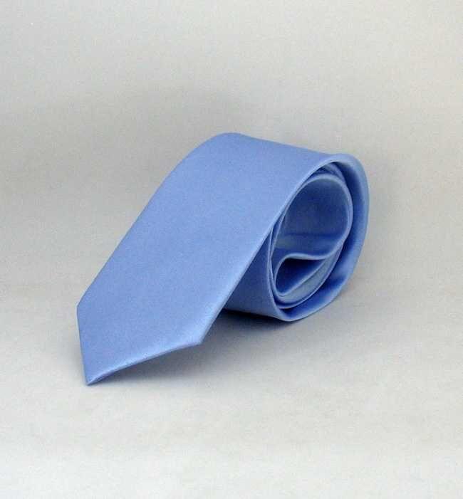 Açık Mavi Çocuk Boy Düz Renk Saten Kravat - CK-36